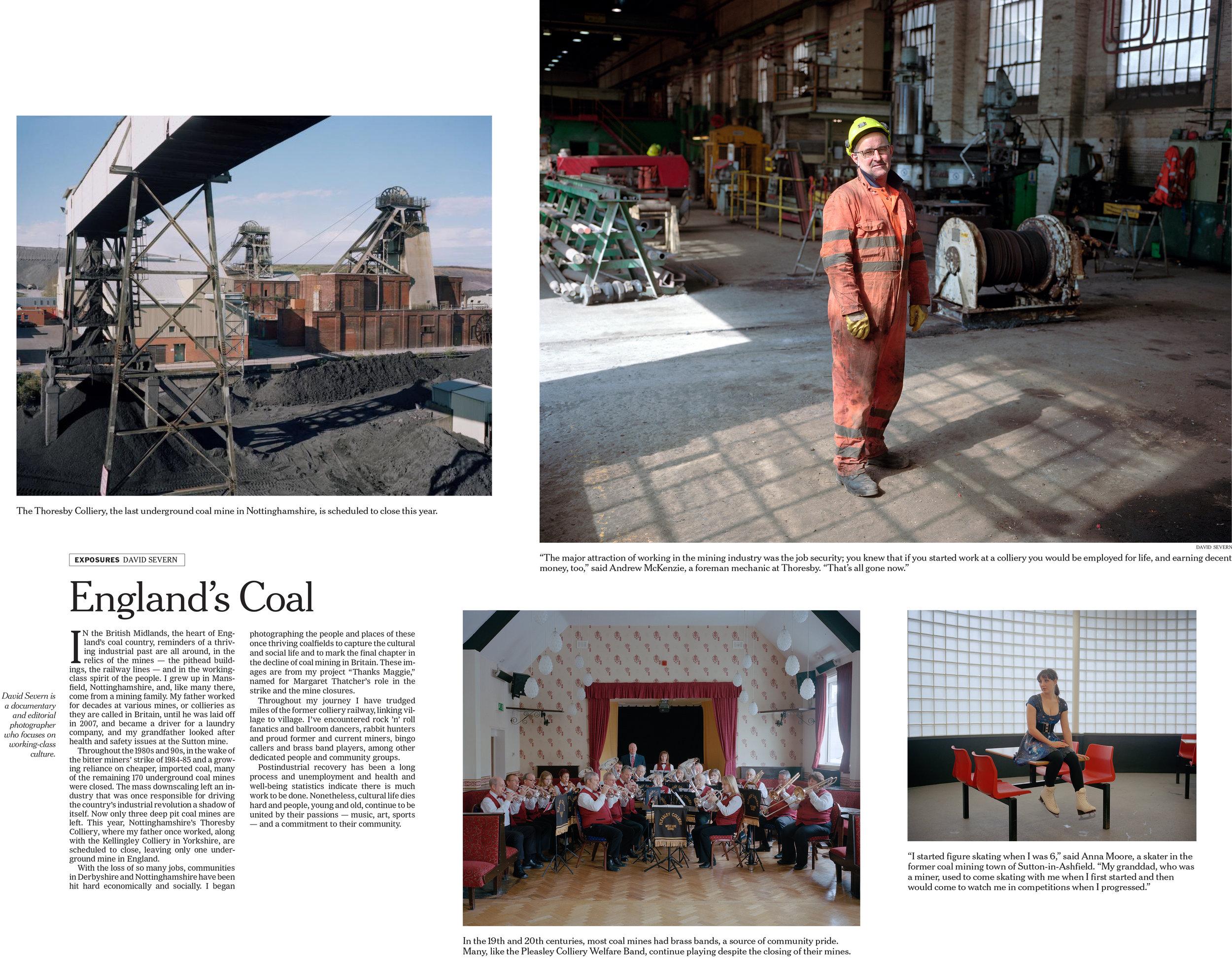 England's Coal, The New York Times tearsheet.