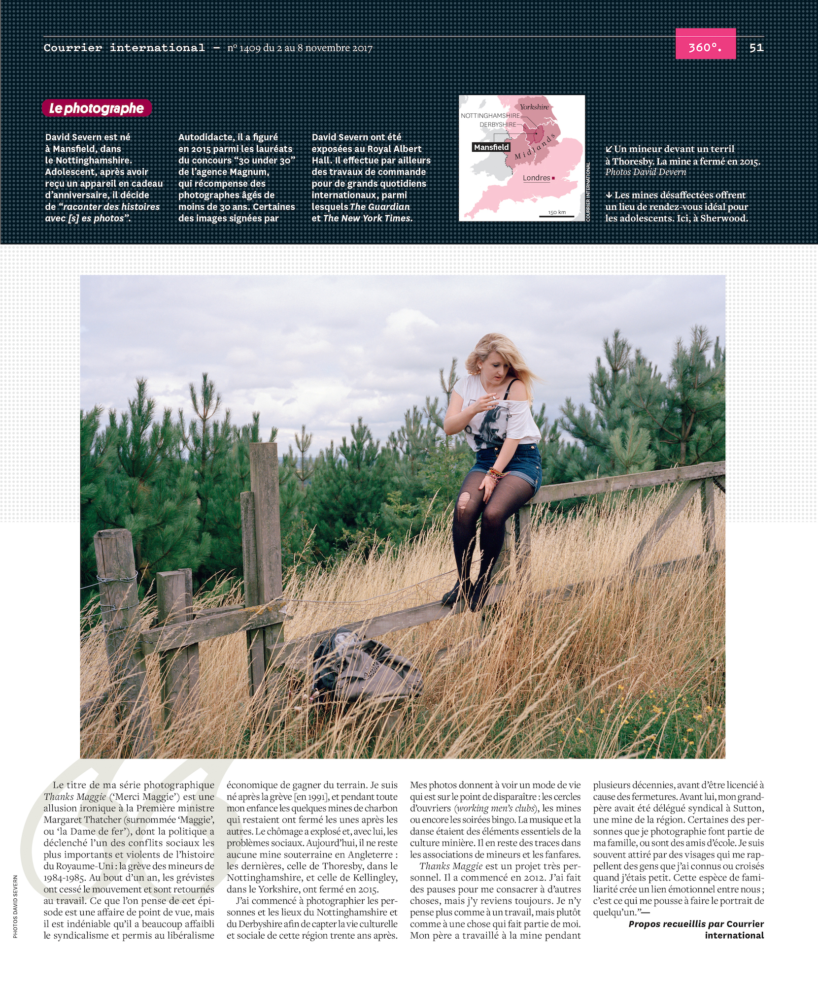 Thanks Maggie, Le Courrier magazine tearsheet.