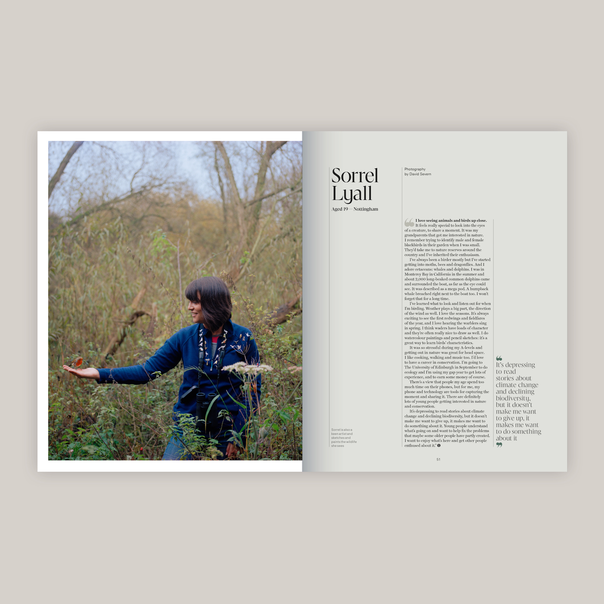 The Young Conservationists, Positive News magazine tearsheet.