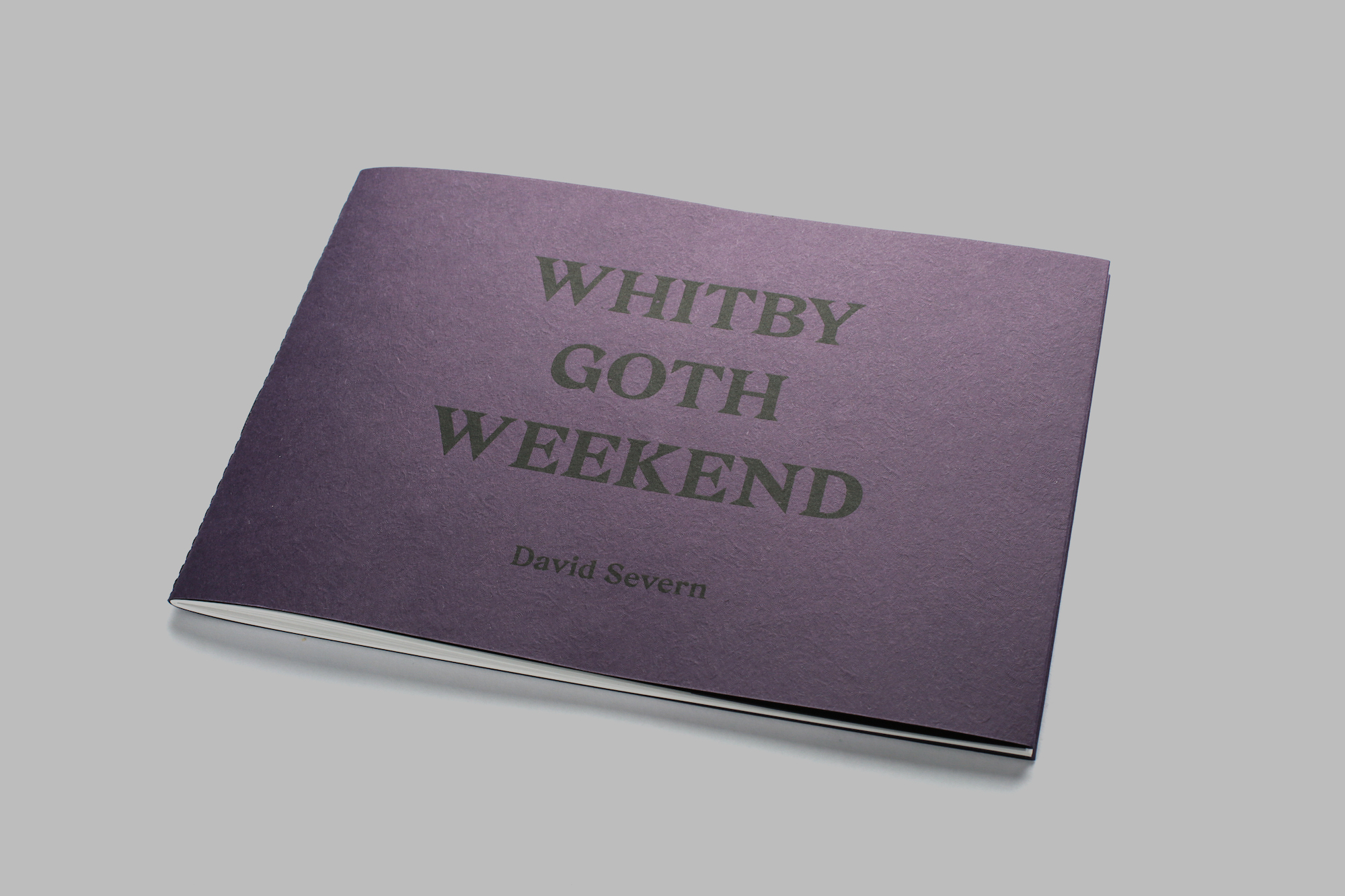 Whitby Goth Weekend photobook front cover.