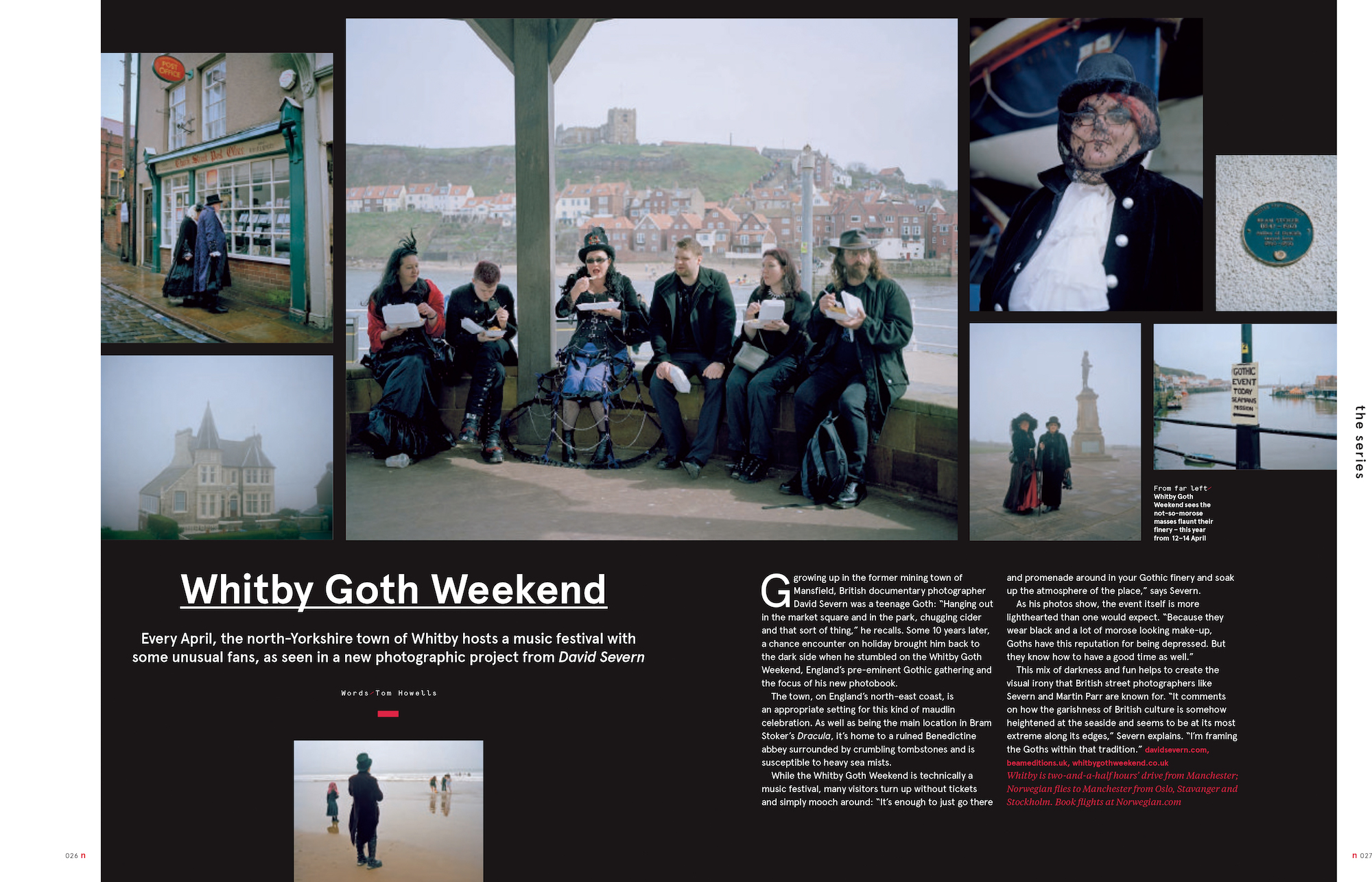 """Whitby Goth Weekend featured in """"N"""" Norwegian airline inflight magazine"""