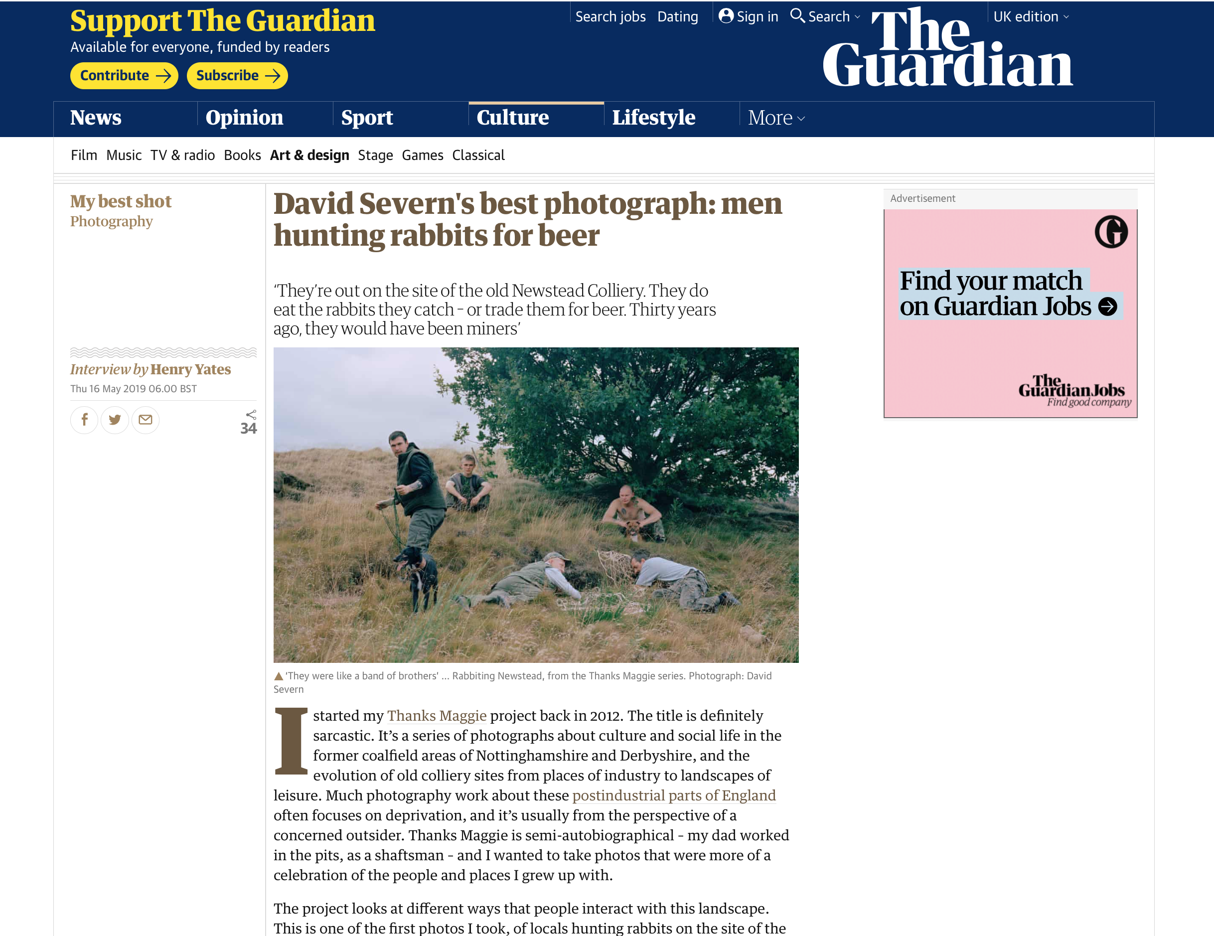 """The Guardian """"My Best Shot"""" feature, 2019"""