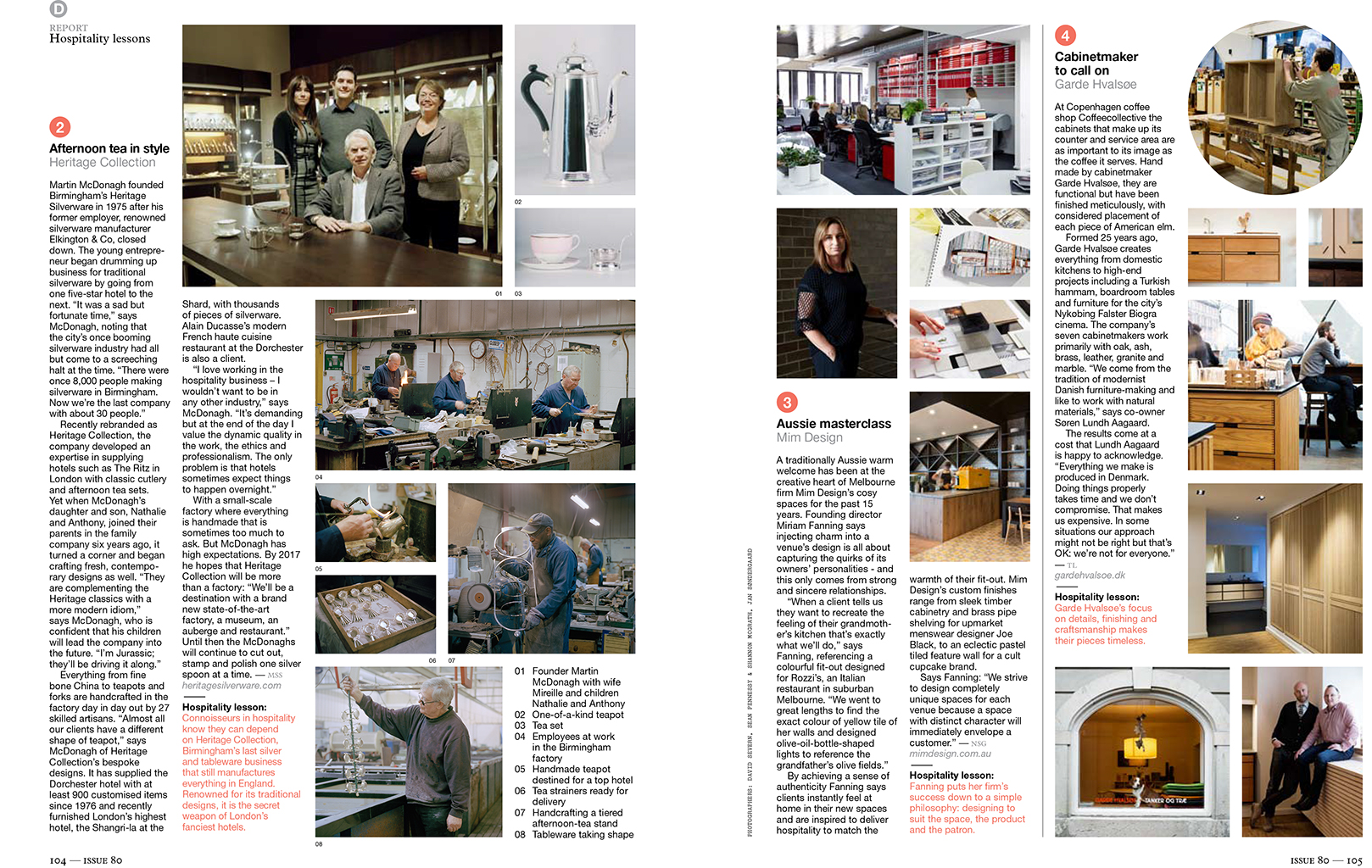 MONOCLE tearsheet: Heritage Silverware, Birmingham for Hospitality Special Issue