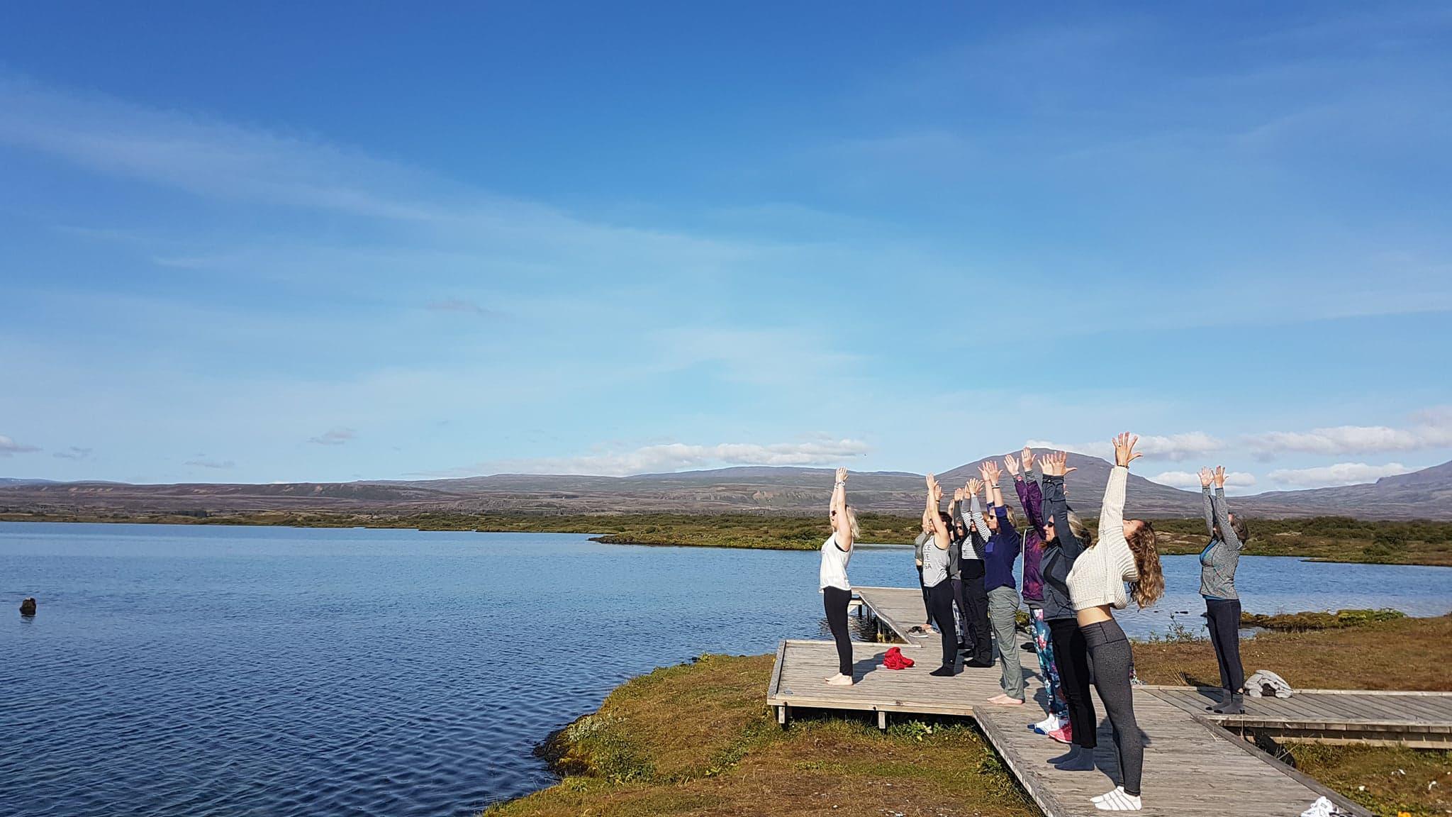cat doyle yoga retreat Iceland