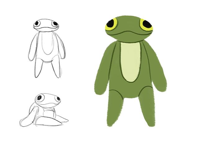 Plush toy for the latest project 🐸 #ribbit