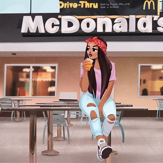 This is half me, but I never look this good sitting at McDonald's 🙃 Photographer: Unknown Model: Unkown