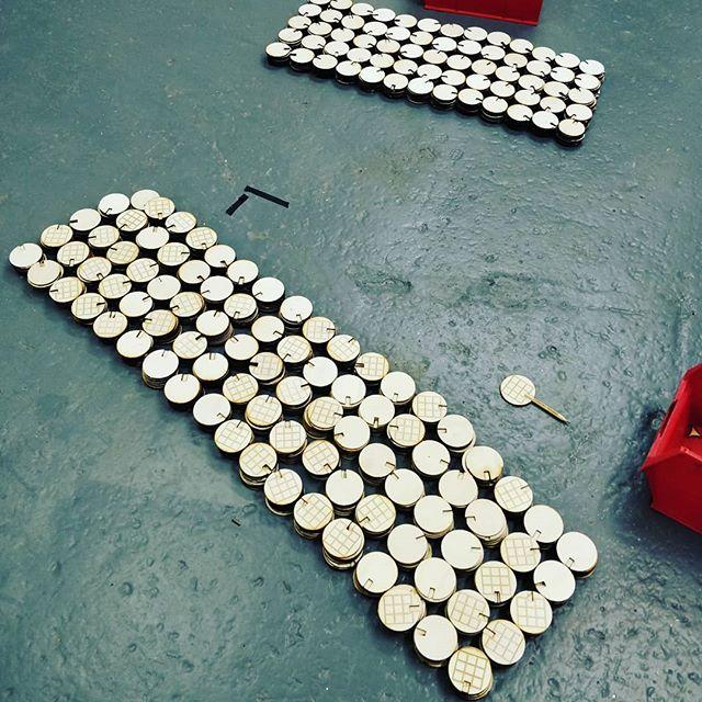 1500 thaumatrope heads.... #cheltscifest  #makershack