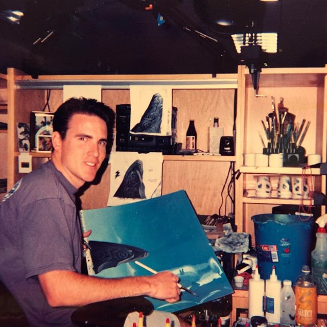 This is a picture taken of me in 1997 while working at Warner Brothers on my first feature, Quest for Camelot.