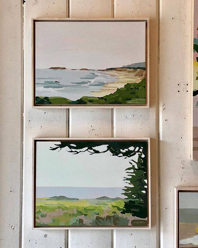 A pair of landscapes I painted based on a recent drive down the California Coast. Top is from Pescadero Beach, just south of Half Moon Bay. Bottom is Davenport Beach, in Santa Cruz. I am so thankful to live in this amazingly beautiful state, with so much natural beauty to see and appreciate. They are both currently up @bellesnest  #california #coast #landscape #painting #acrylic #westcoast #figurativeexpressionism #santacruz #davenport #pescadero