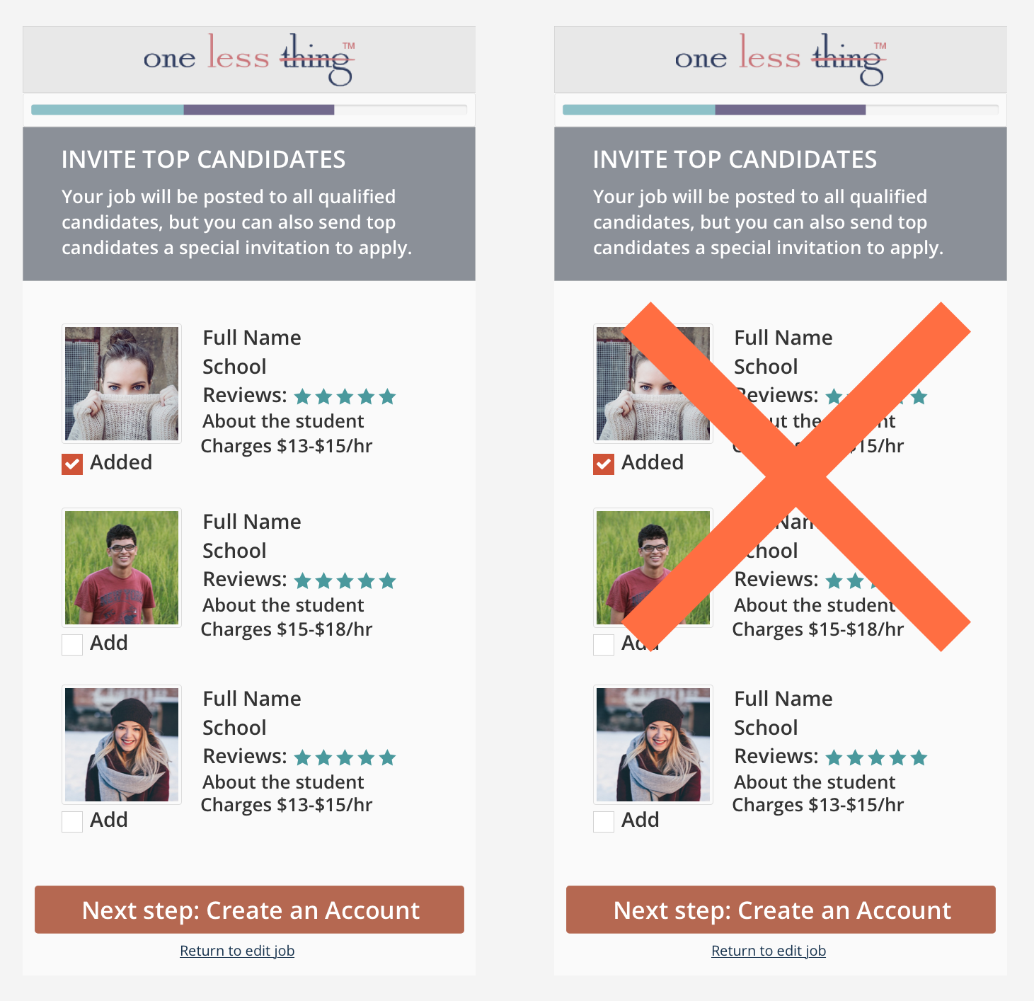 The users found valuable viewing available candidates before posting a job.