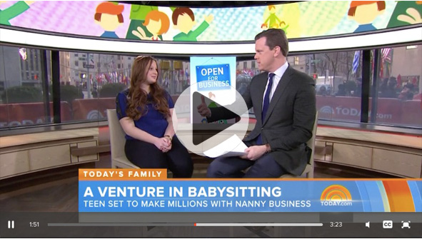 "TODAY NYC Teen Starts Lucrative Baby-Sitting Business - Noa Mintz joins TODAY to talk about starting ""Nannies by Noa,"" a business that's set to make millions. Her personal experience with child care has made the 15-year-old into a bona fide Manhattan mogul."