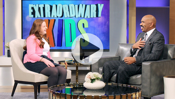 THE STEVE HARVEY SHOW She's Gotta Be One of the Sharpest Kids I've Ever Met! - Steve Harvey sits down with Noa Mintz, a 15-year-old girl with a profitable nanny placement agency.