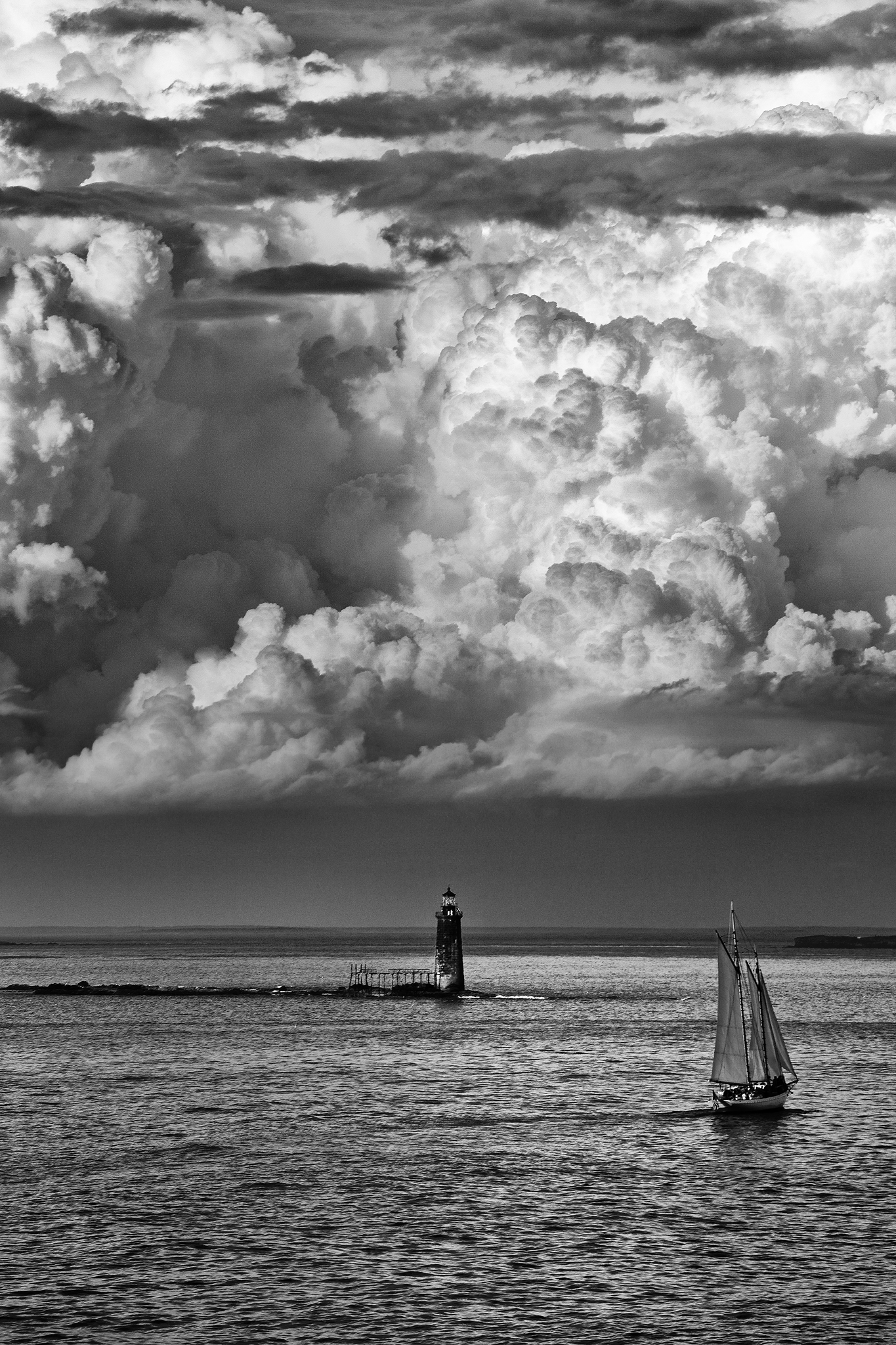 Maine Landscape Photography Workshop Sail boat thunderstorm