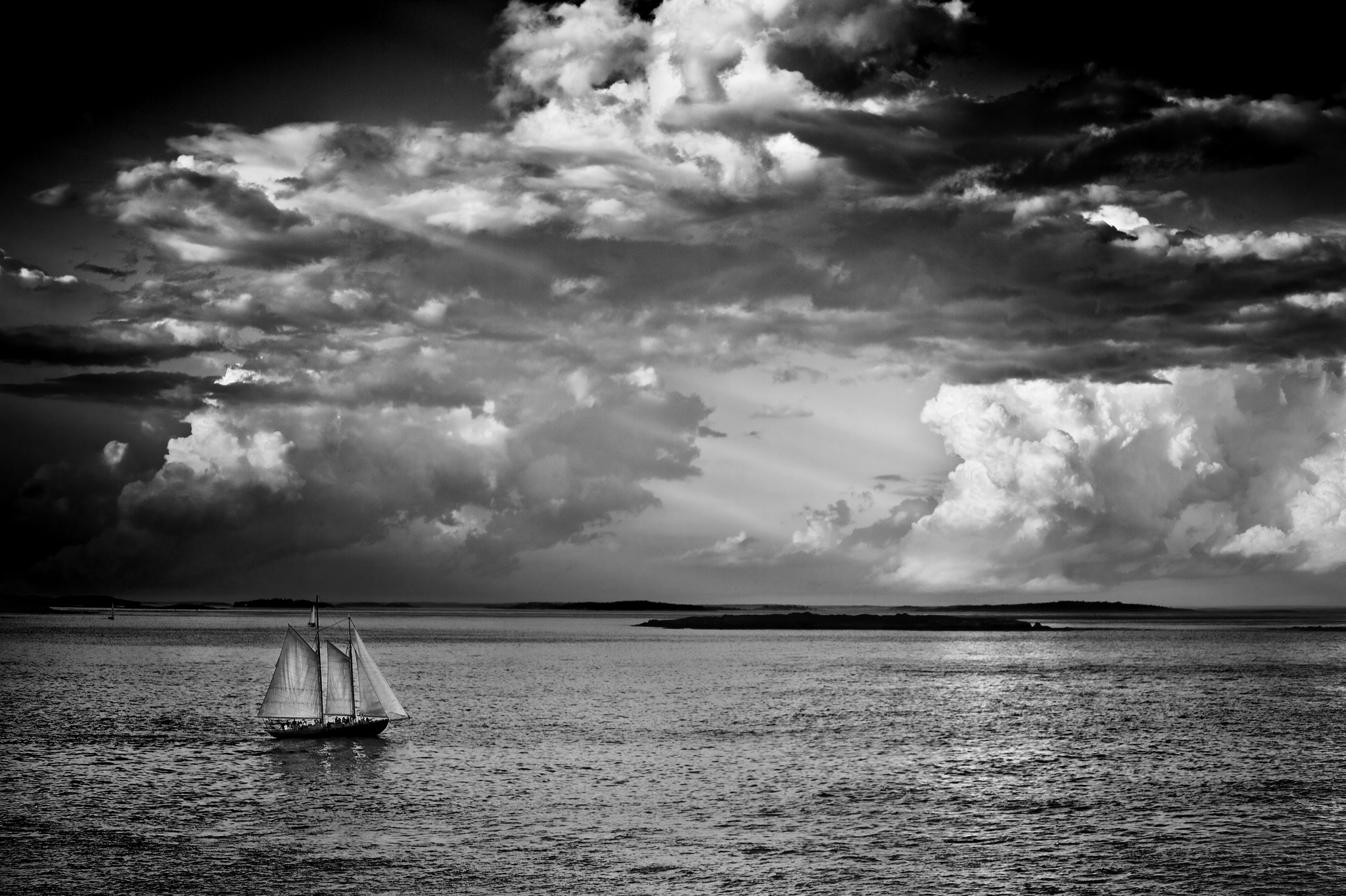 Maine Landscape Photography Workshop Sailboat