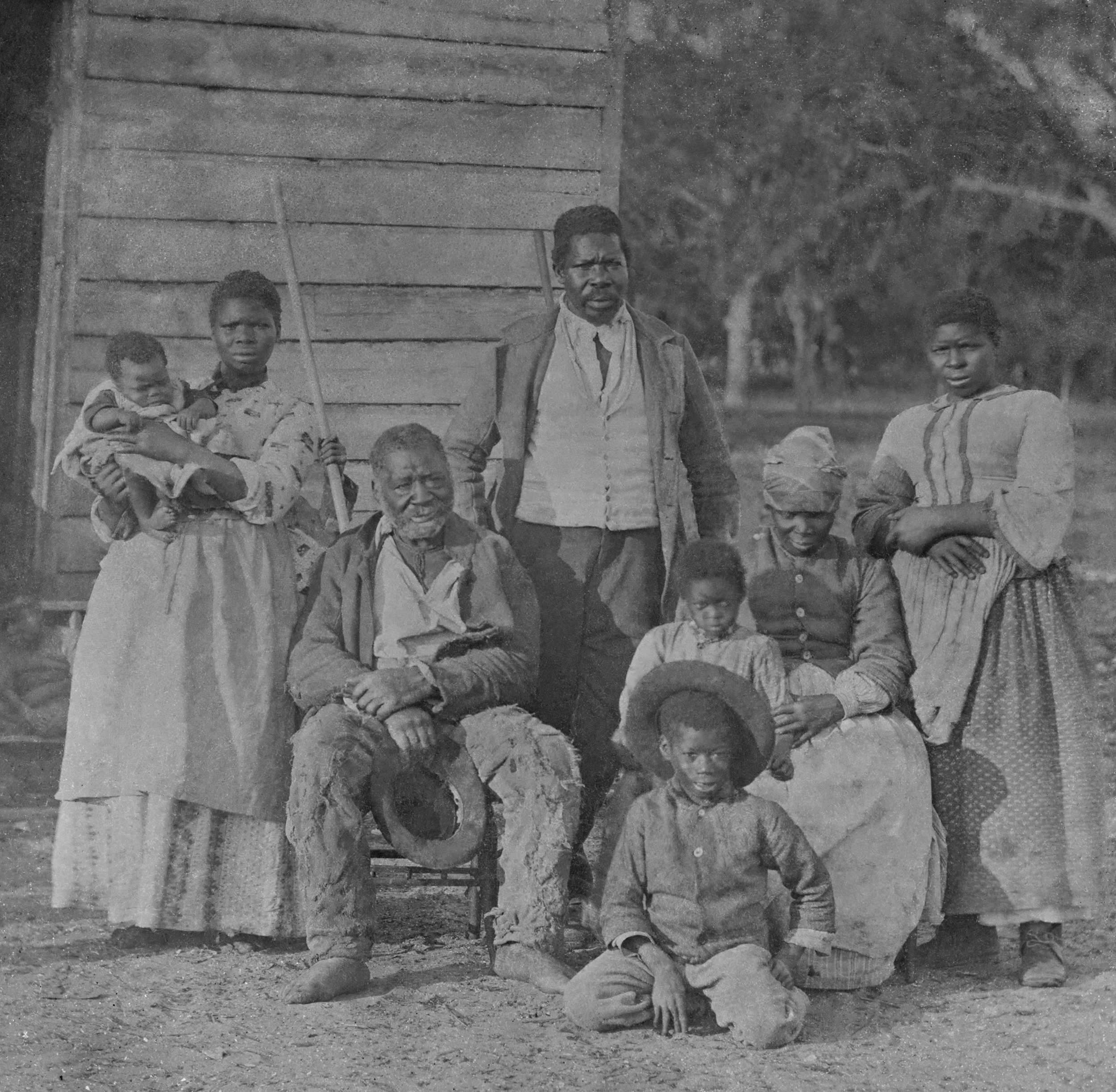 African American slave family representing five generations all born on the plantation of J. J. Smith, Beaufort, South Carolina.jpg
