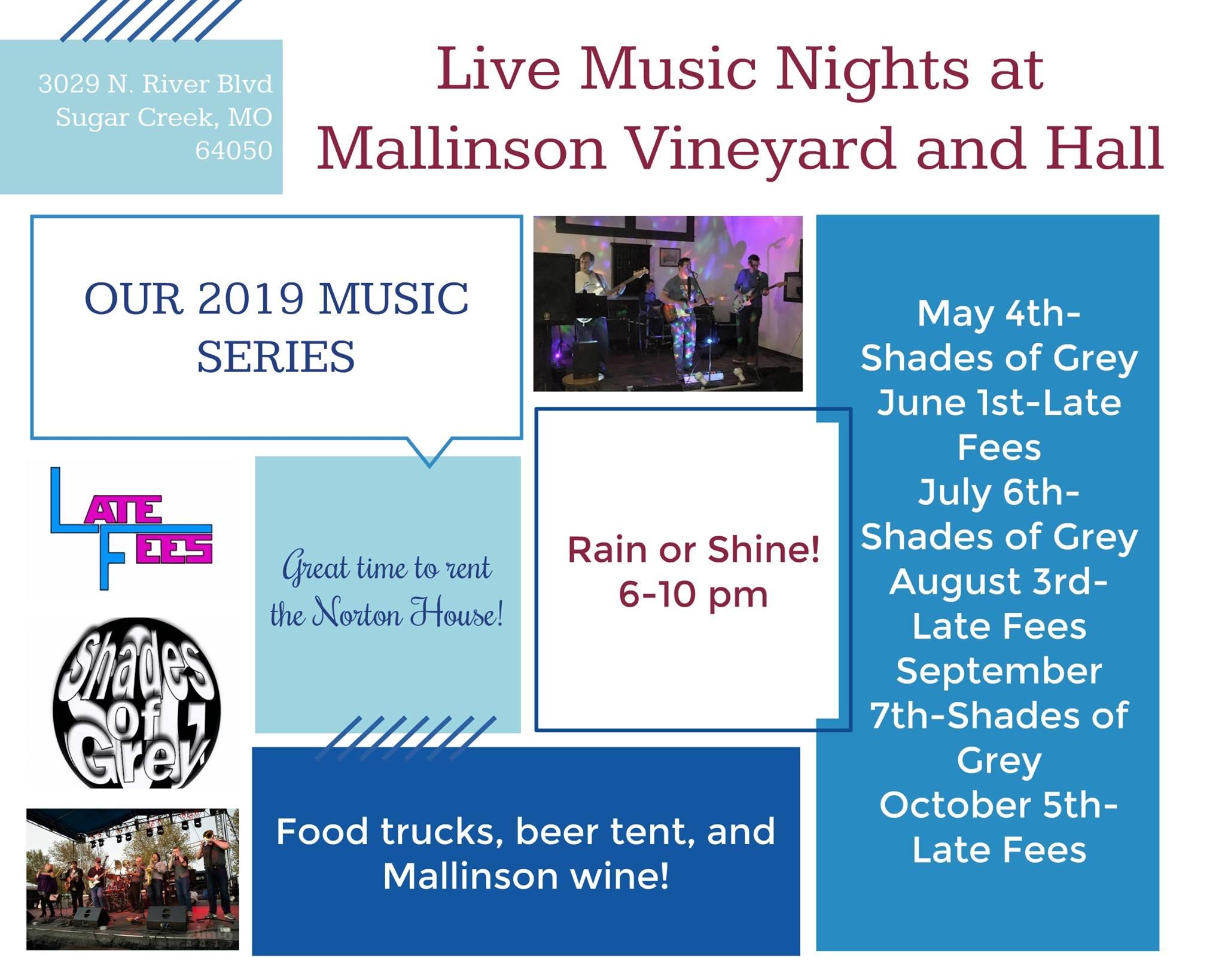 Music Events at Mallinson Vineyard and Hall - Sugar Creek MO.jpg