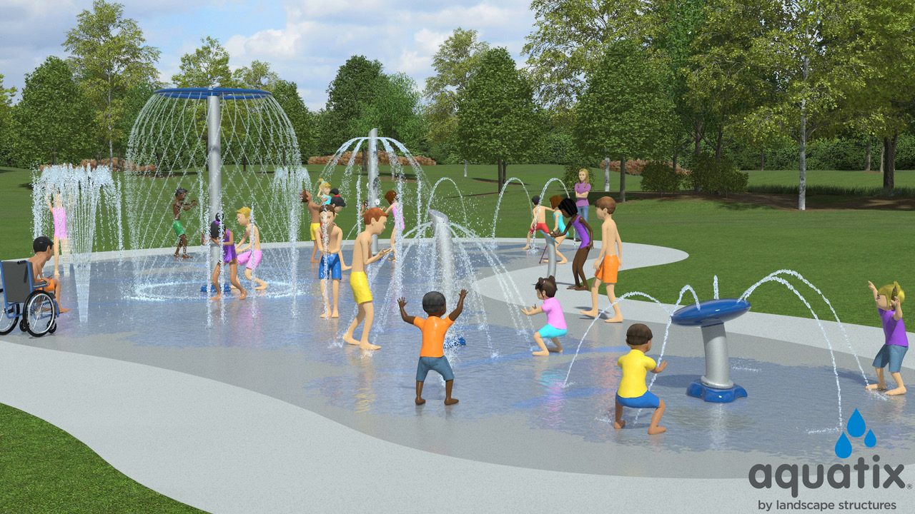 Splash Pad: The new splash pad will conserve water and provide more opportunities for play.