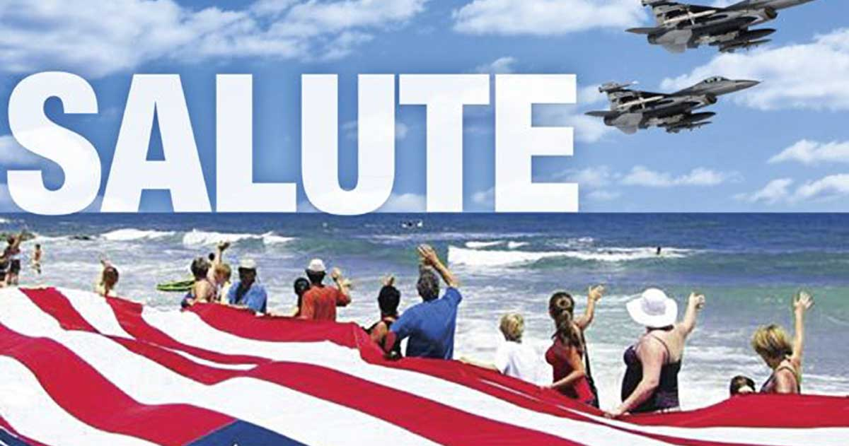 Salute from the Shore  , the annual flyover of South Carolina's coast to support and honor America's armed forces.