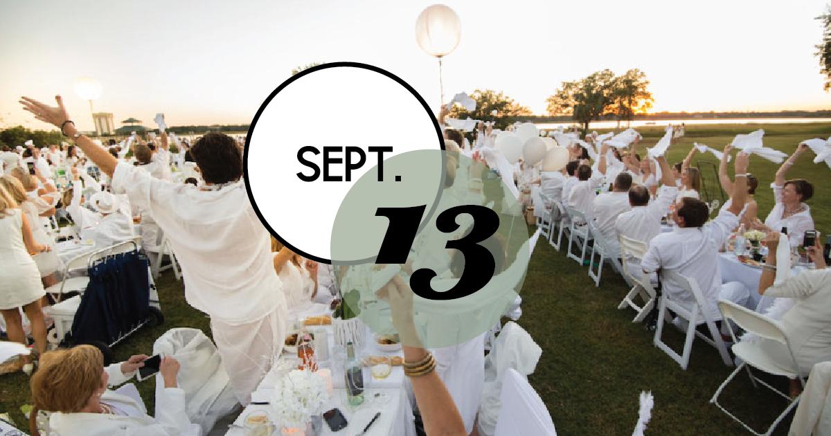 """""""Dîner en Blanc"""" takes place in Charleston, September 13."""