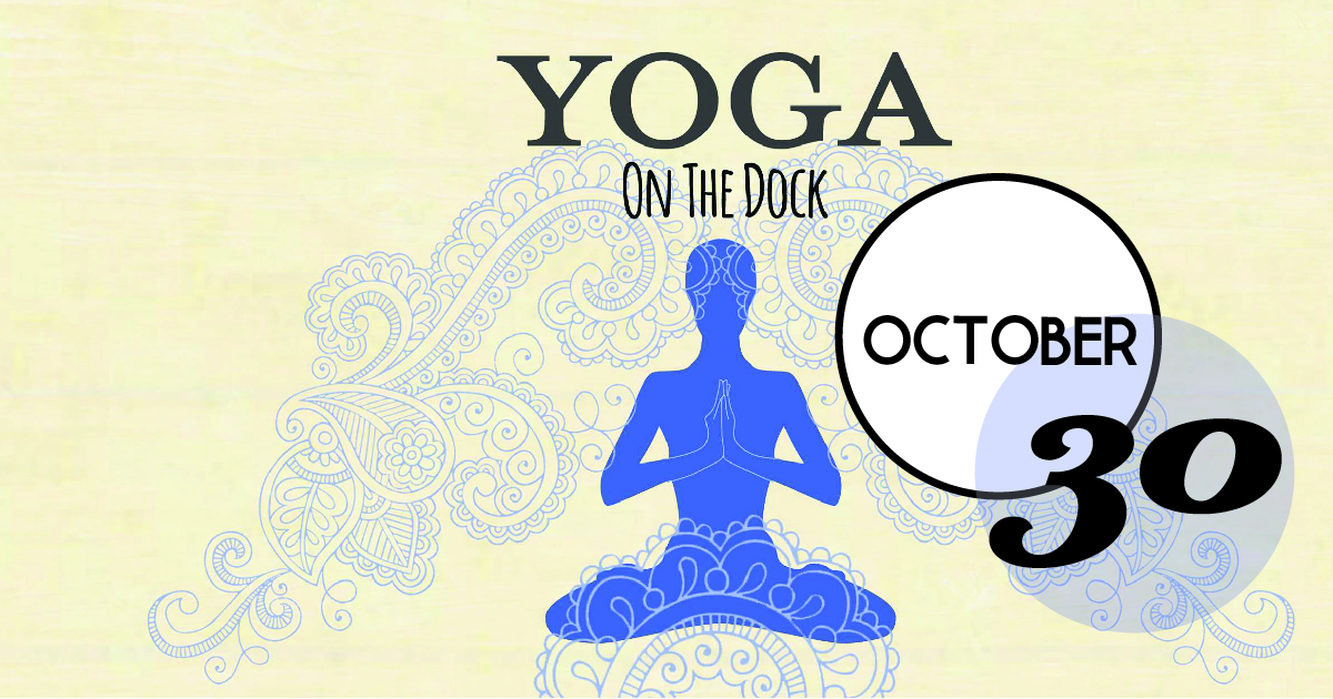 Nothing improves a vinyasa flow like a natural sea-side breeze. We're bringing yoga to the dock on October 30th for a 45-minute vinyasa flow class by Alex Mirzayan of The Works CHS.
