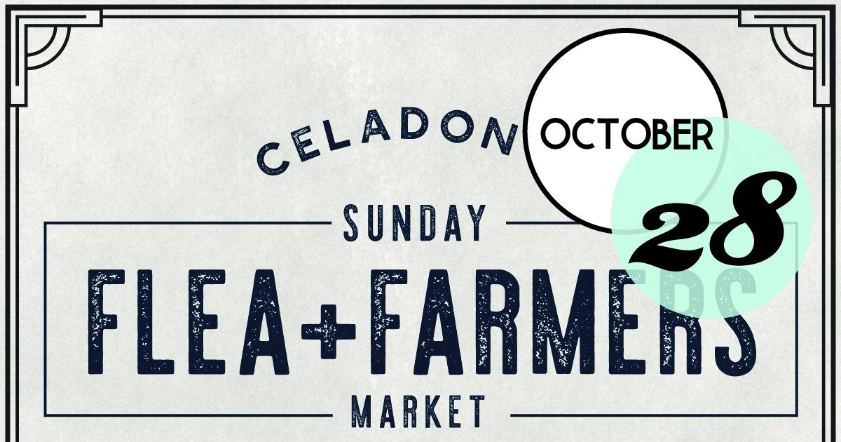 October Flea & Farmers Market at Celadon Warehouse is back. JOIN US for our October market Sunday, October 28th 10am-2pm at the Celadon Warehouse in North Charleston (2221 Noisette Blvd)!