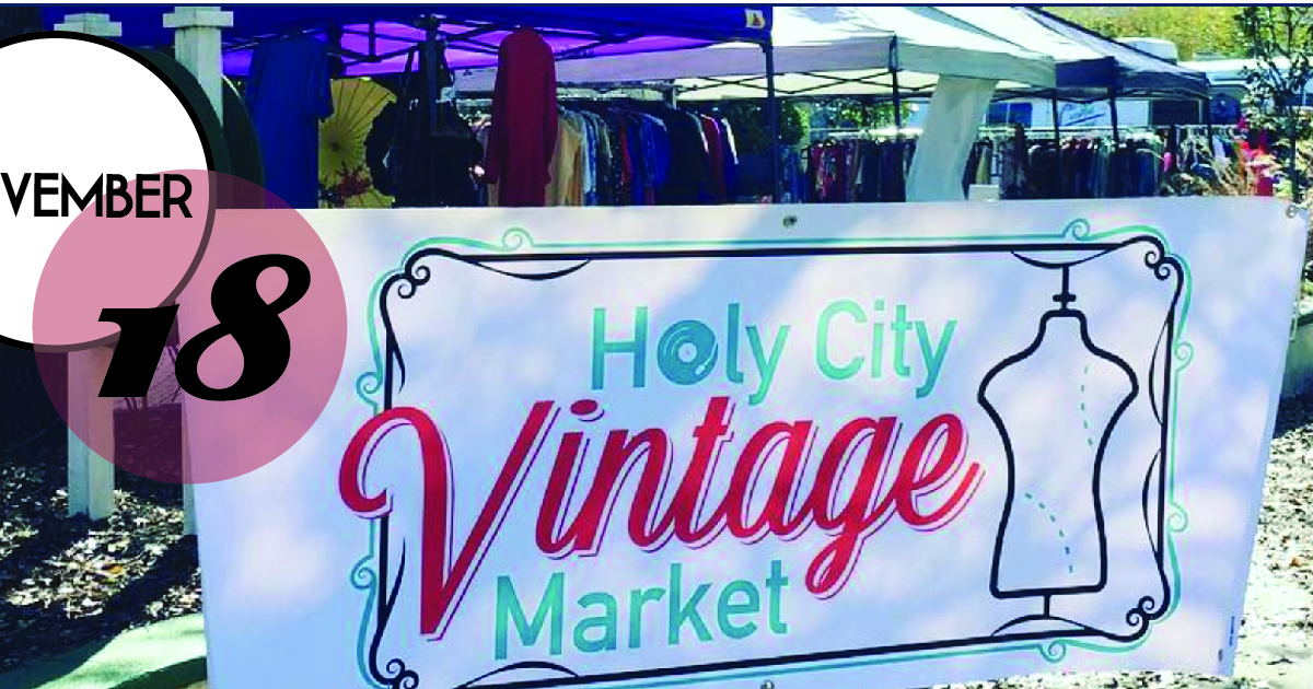 Shop over two dozen local shops selling vintage galore, plus artisans and more on Sun. Nov. 18 as the Holy City Vintage Market at the   Royal American Theater  .