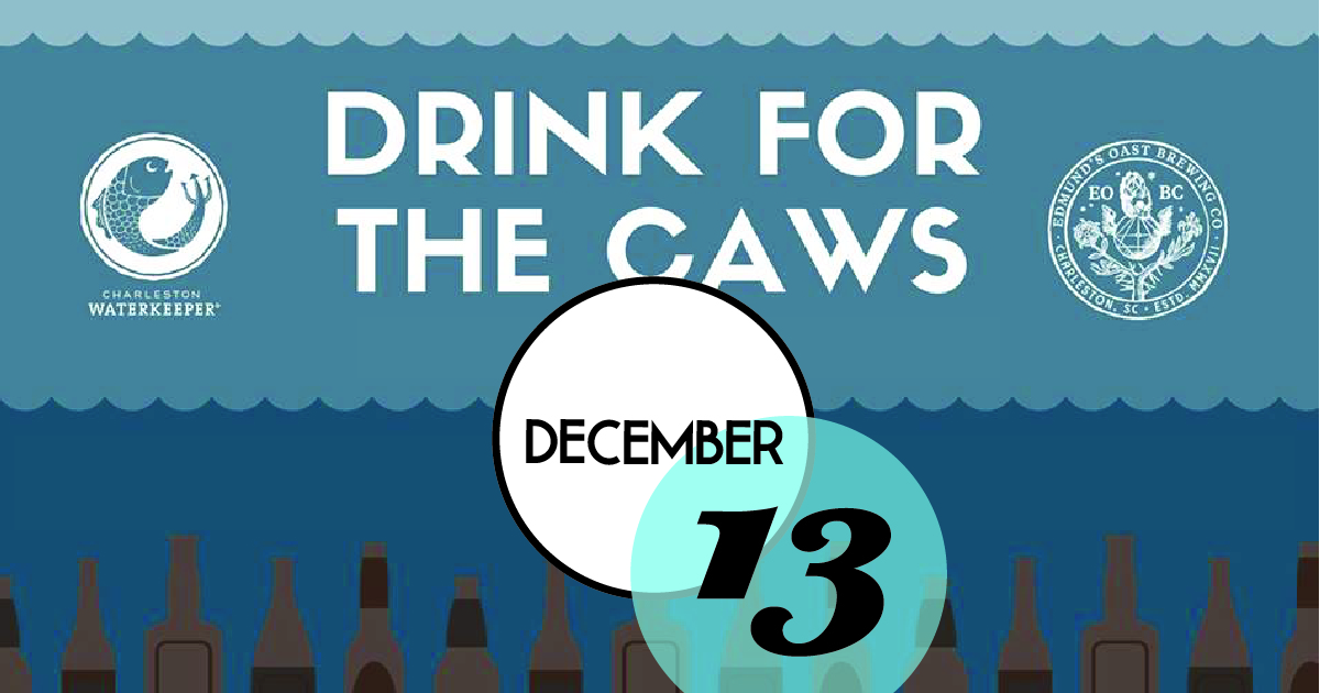 Gather at Edmund's Oast Brewing Co. and raise a glass for the Cooper, Ashley, Wando, and Stono Rivers (CAWS). Grab a drink, meet your hard working Charleston Waterkeeper team, and celebrate our beautiful river and creeks. A portion of the proceeds will support Charleston Waterkeeper's mission to protect and restore your waterways so you can enjoy them without fear of pollution.