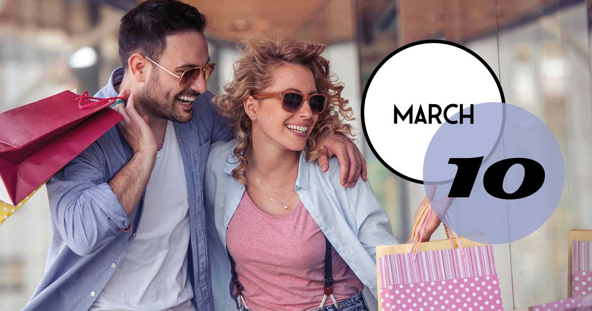 Love to shop? Love to people watch? This Sunday, March 10—come enjoy King Street downtown.