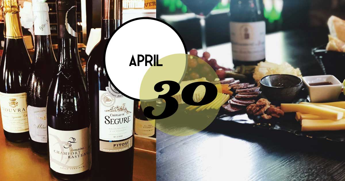 Bistro A Vin hosts a wine tasting for Michael Corso Wine at Tasting Tuesday, April 30, 5 - 7 pm