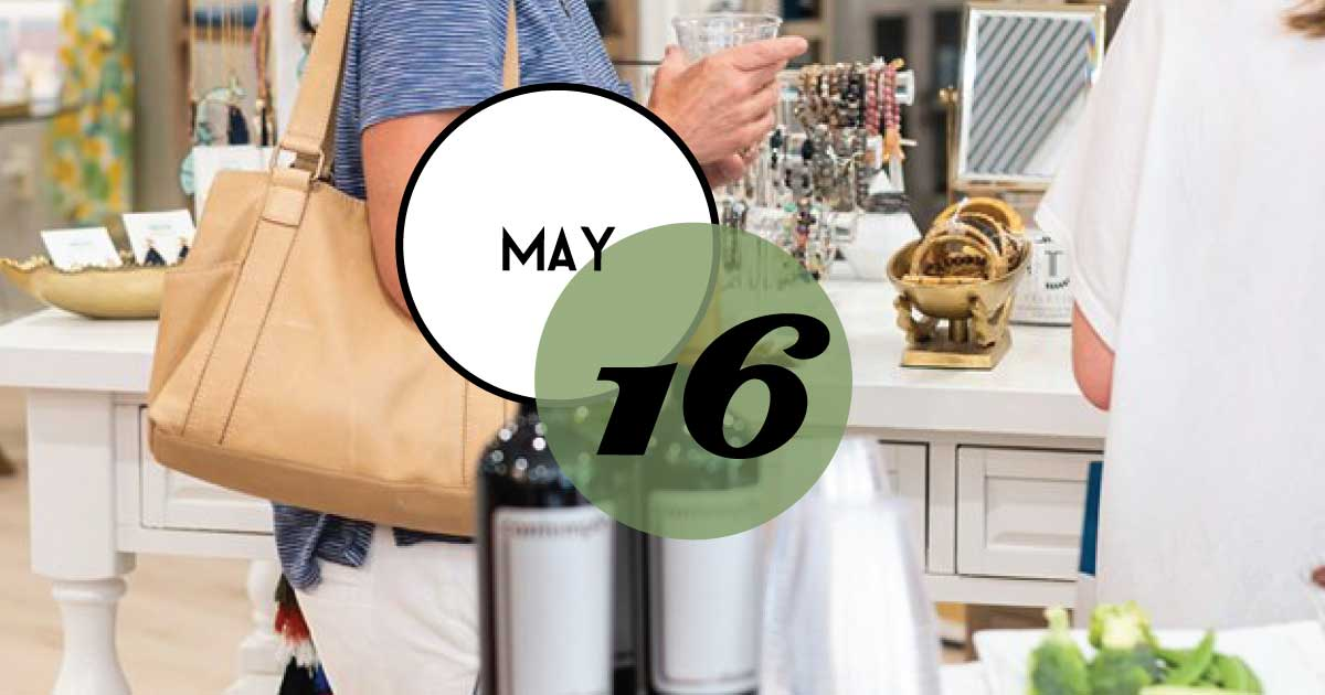 Join the final Spring Sip & Stroll at Freshfields Village. Enjoy exclusive sales, promotions, events, tasty treats and sips in participating shops and restaurants.
