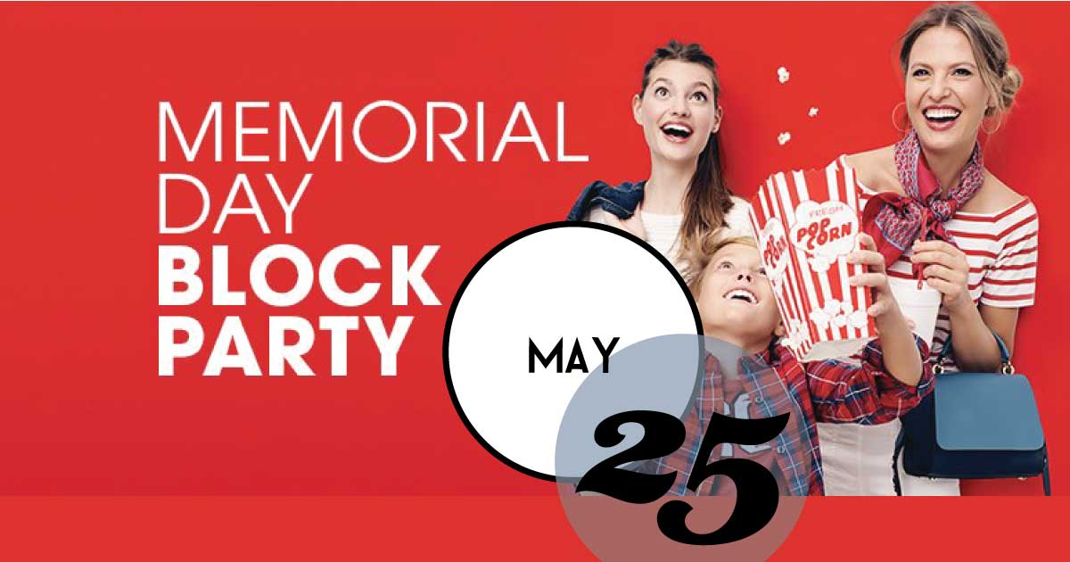 Tanger Outlets Charleston hosts a Memorial Day Weekend Block Party. Fashion, Fun, Savings, and Memorial Day Weekend Sales.