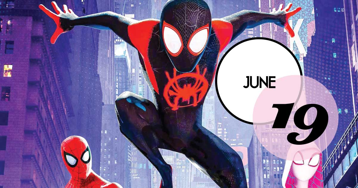 Each Wednesday between June 19 and August 21, guests can bring a blanket, chair, and picnic and enjoy a free family outdoor movie under the stars. The June 19 movie is Spiderman: Into the Spiderverse (PG, 1 hour 57 minutes.)