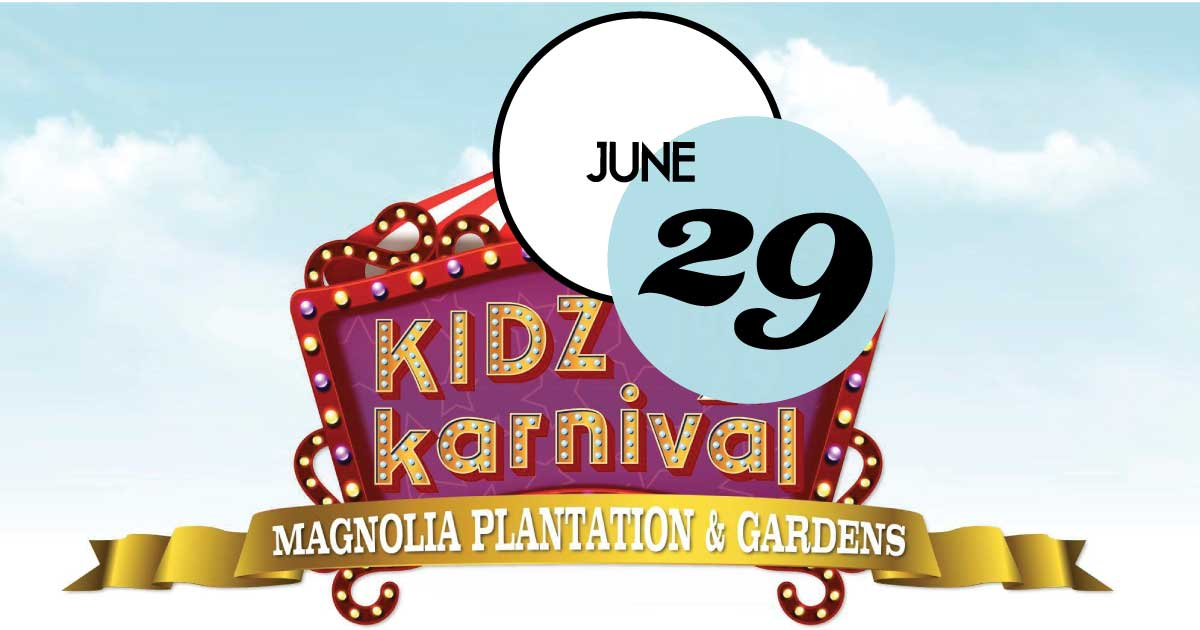 Magnolia Plantation and Gardens Summer Series will end with a fun and whimsical carnival set among our beautiful new Children's Garden. Activities will include carnival games, inflatables, concessions, a magician, and so much more!