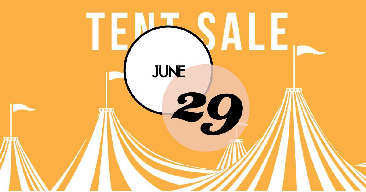 Summer Tent Sale at Patina Market! Sizzlin' Deals Outside and Markdowns Inside on furniture, home decor, antiques, vintage finds, apparel and more.