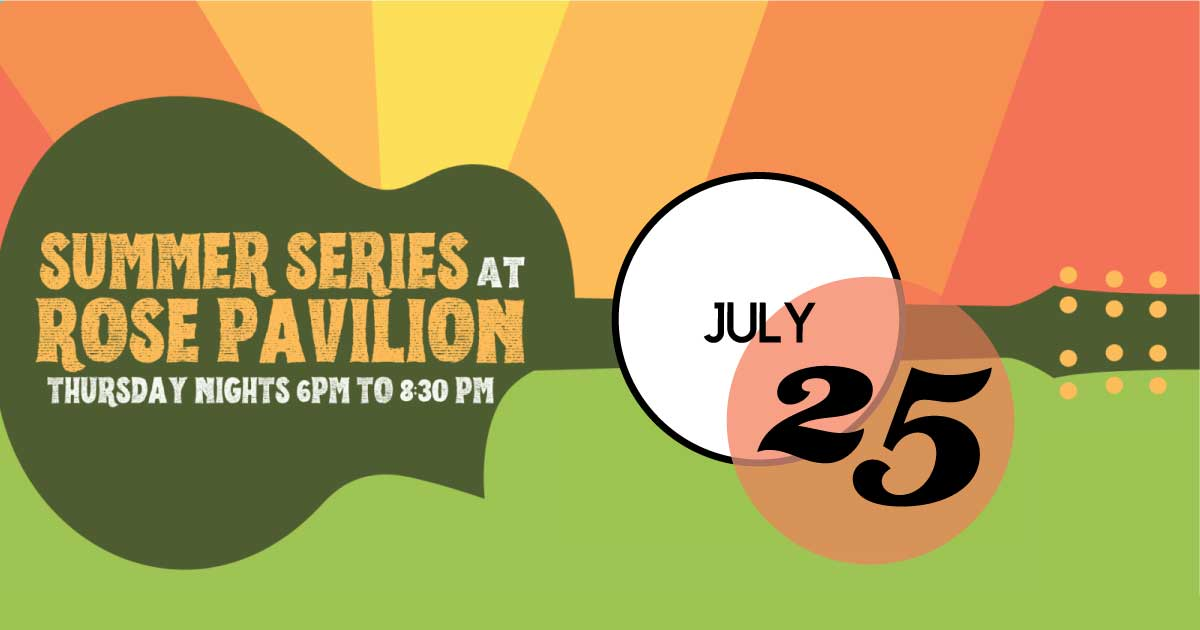 Rose Pavilion hosts a free music series in Hampton Park on Thursday nights, July 25th.