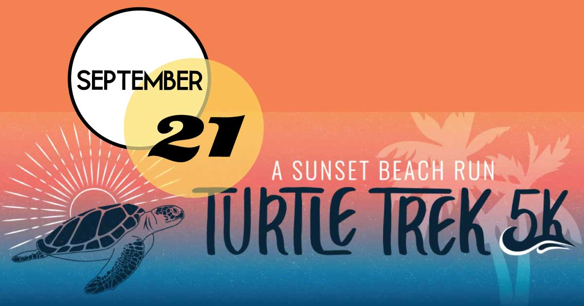 Run for the turtles! The South Carolina Aquarium Turtle Trek, a 5K sunset beach run/walk, will take place Saturday, September 21 on Isle of Palms. Proceeds from the Turtle Trek support the Sea Turtle Care Center™ and the Aquarium's conservation initiatives.