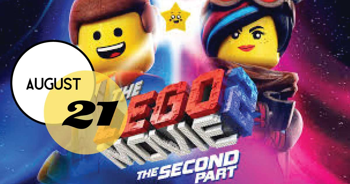 Join us Wednesday, August 21st for the Lego Movie 2. Bring a blanket, chair, and picnic and enjoy a free family outdoor movie under the stars at Freshfields Village.