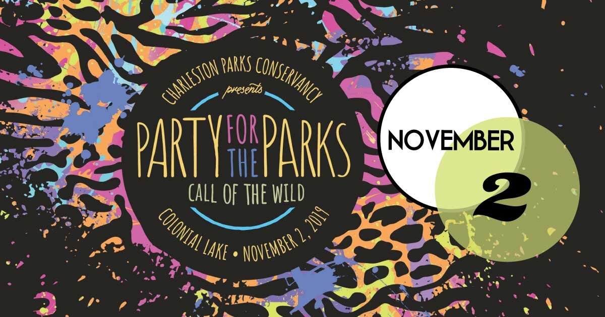 Get wild with the Charleston Parks Conservancy as they celebrate the 9th annual Party for the Parks on Saturday, November 2 at Colonial Lake!