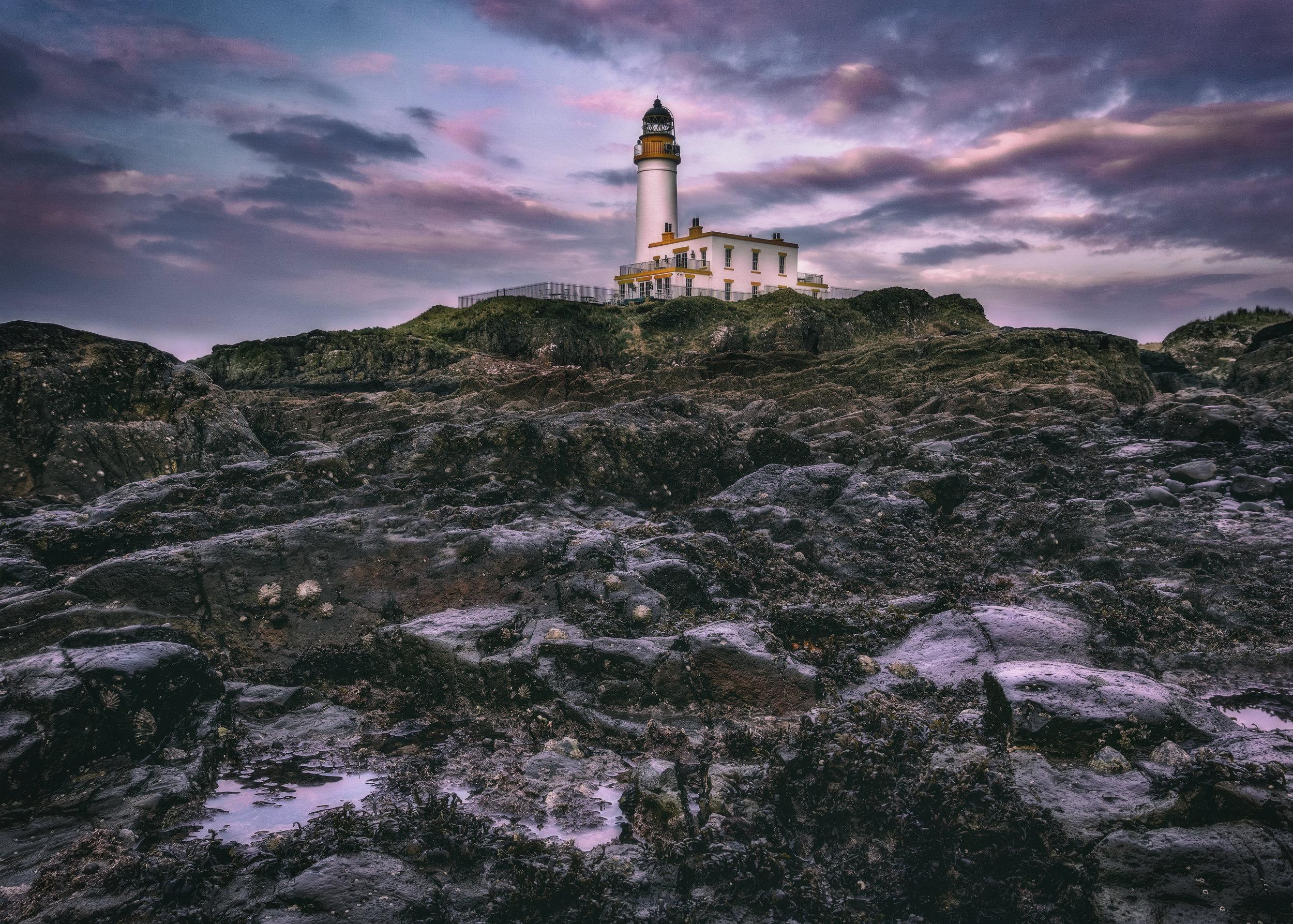 'Dusk at Turnberry Lighthouse'