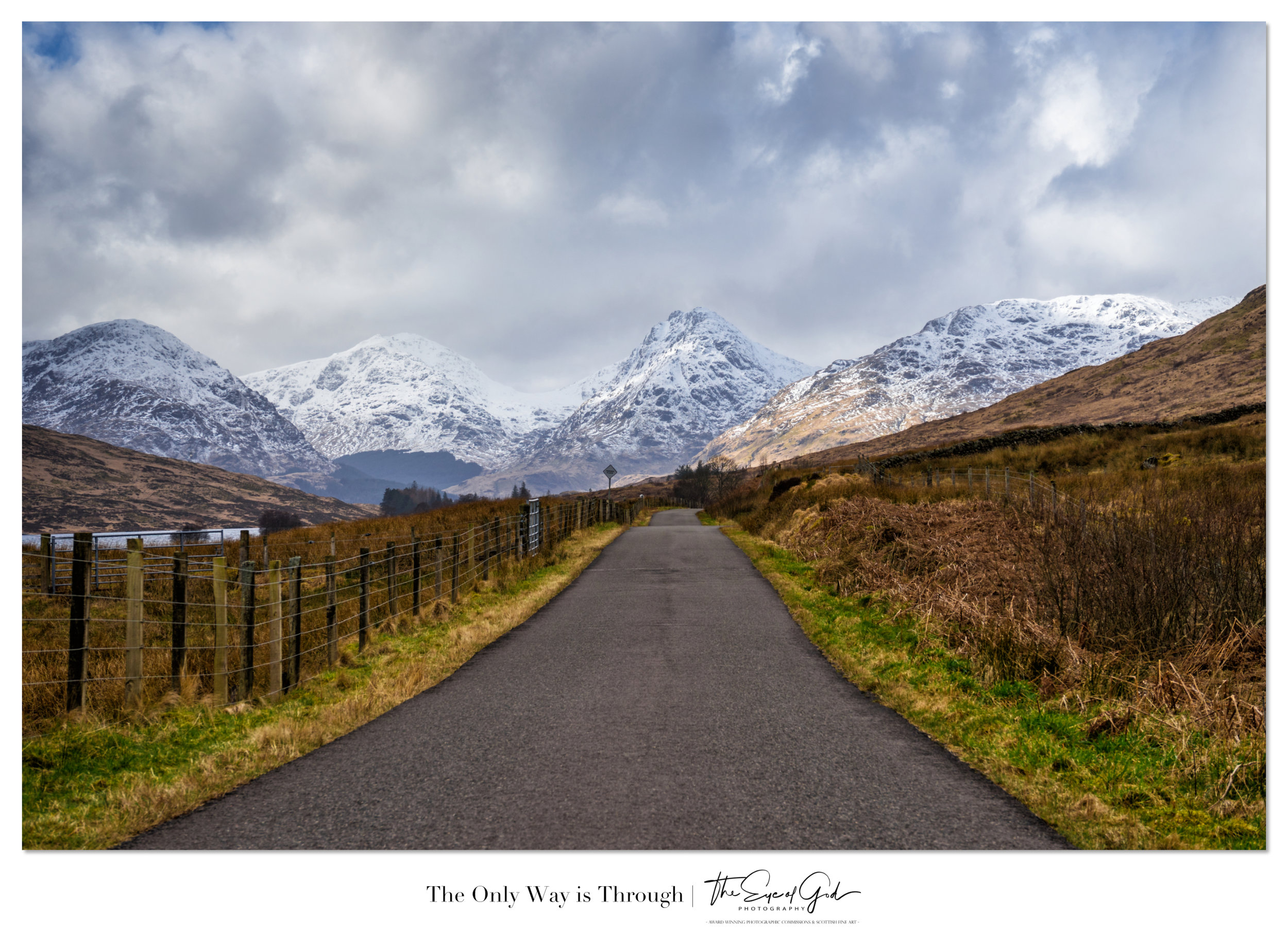 The view towards the Arrochar Alps from the roadside at Loch Arklet