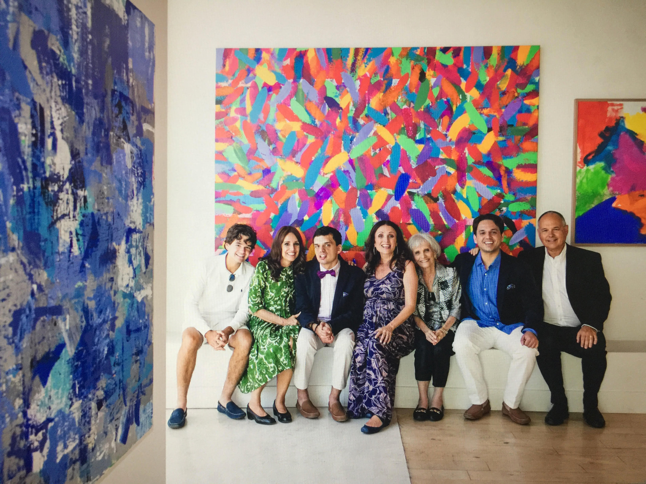 The Kontaxis Family, from left to right Christian Kontaxis,Krisann Kontaxis, Nicholas Kontaxis, Jenni Nassos Pulos, Alice Pulos, Euthym Kontaxis MD
