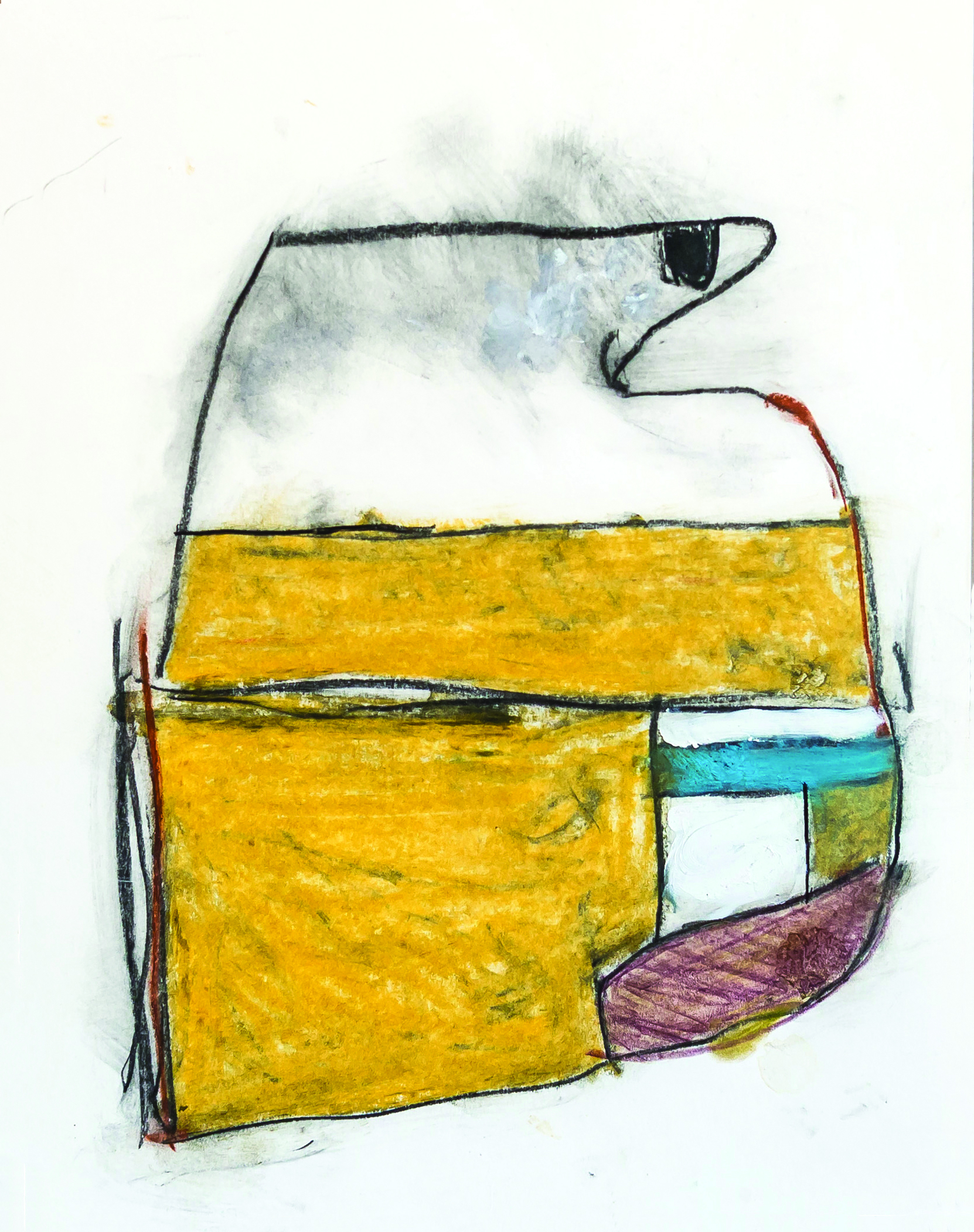 Untitled #2  mixed media on paper, 15x18