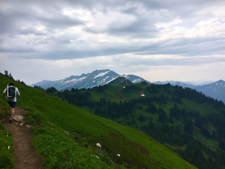 Heading to White Pass on the PCT