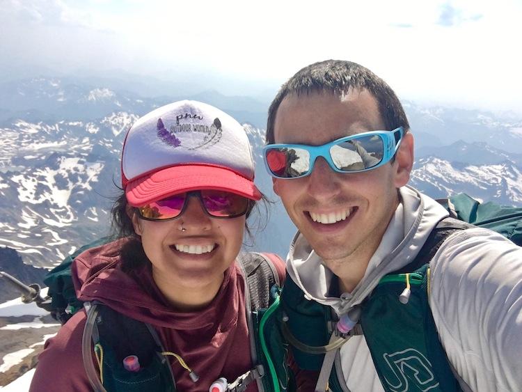 Obligatory summit selfie while twinning (i.e. same running packs)