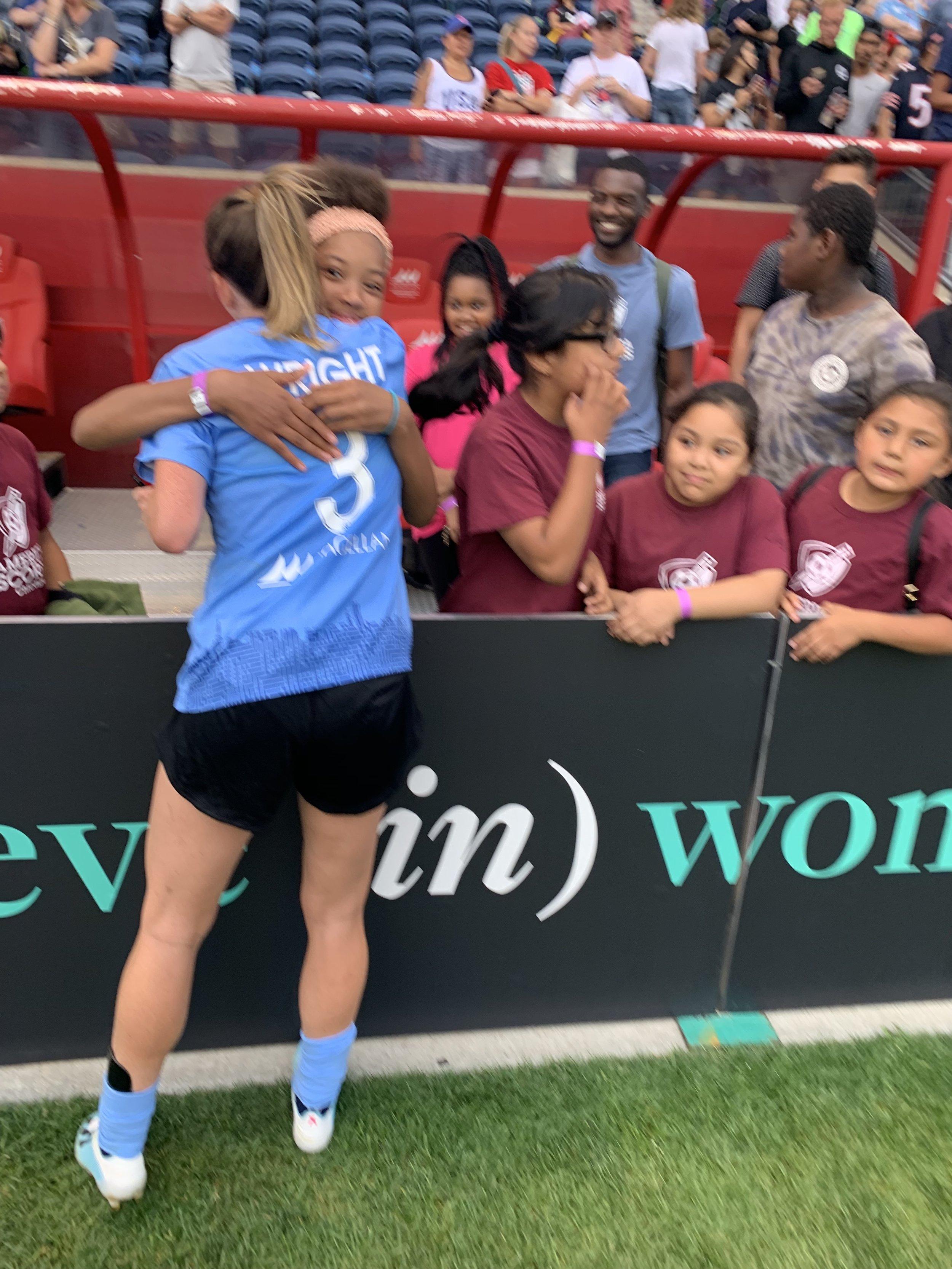 Hidden Gems Coach Arin Wright reunited with her Hughes Elementary Girls!