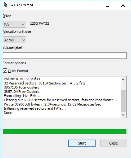 FAT32 Format software