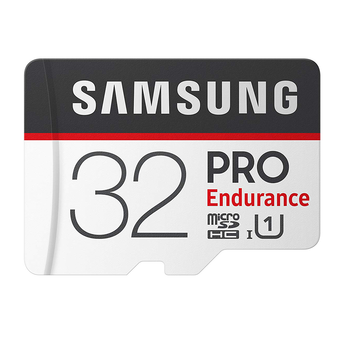 Samsung Pro Endurance (Best) - 17,520 Lifetime Hours (Based on 32gb)Read: up to 100MB/s with UHS-1 interfaceWrite: up to 30MB/s with UHS-1 interface32 GB, 64 GB, 128 GB