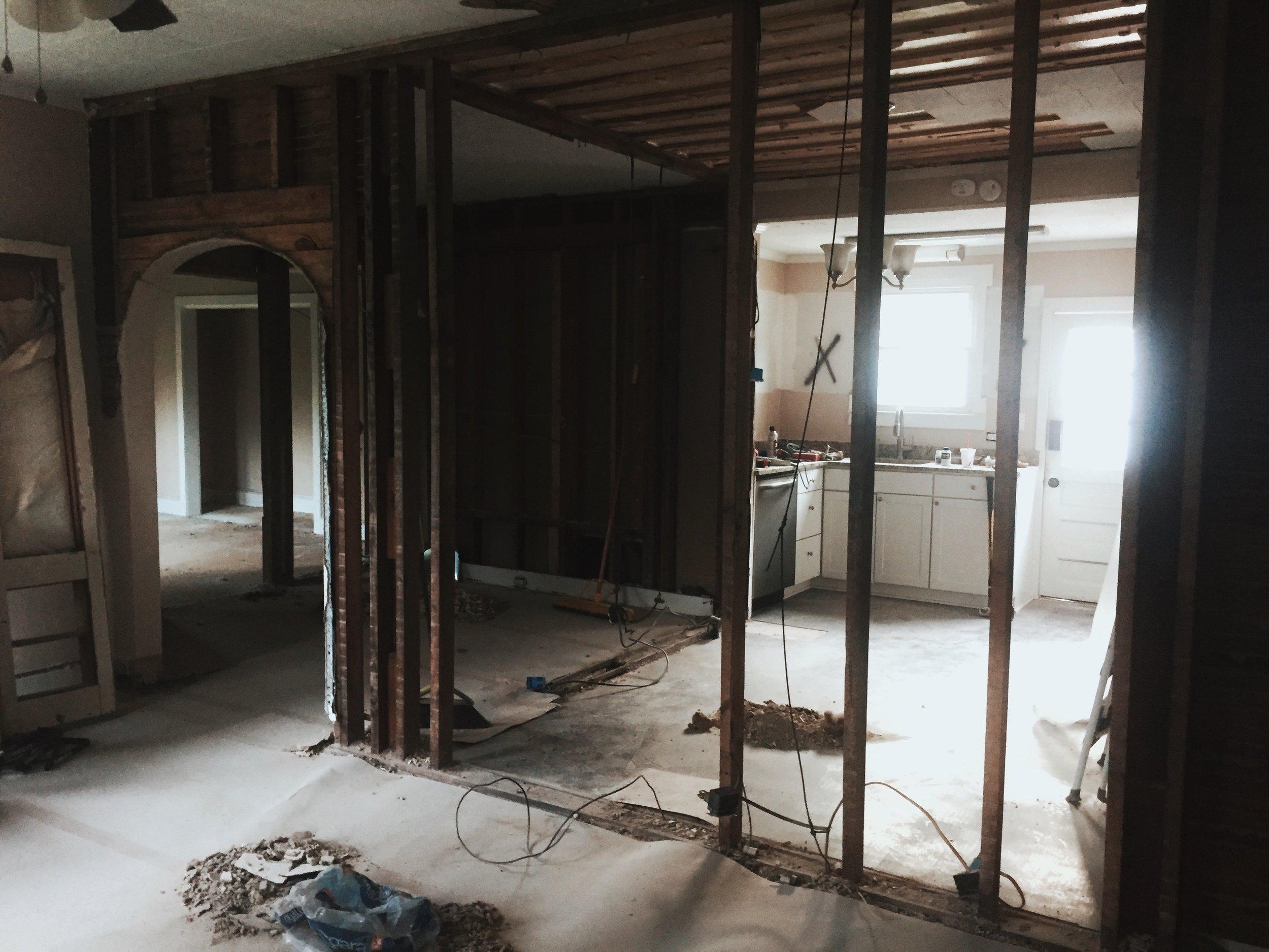 Living Room, Dinning Room & Kitchen