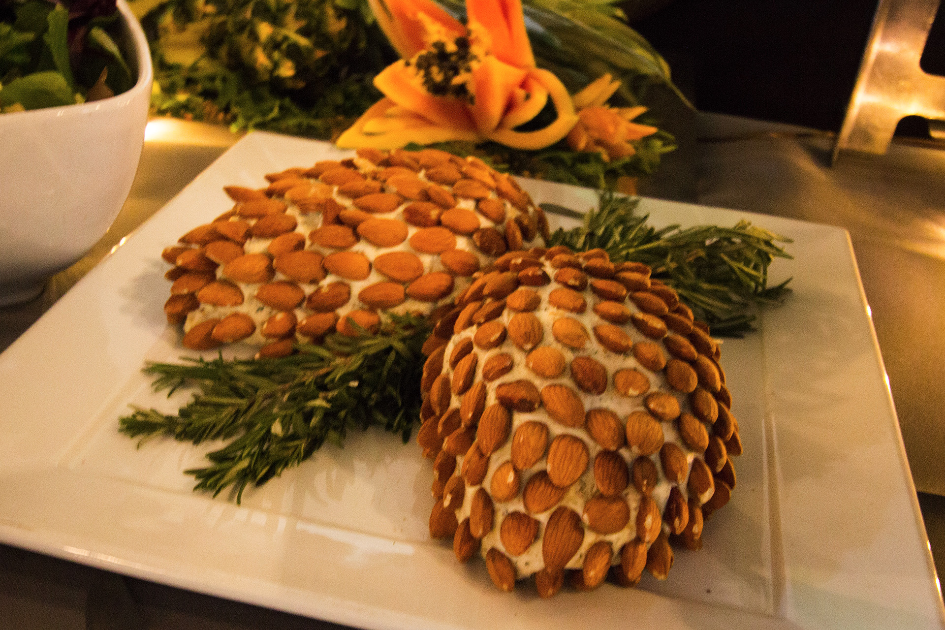 Woodland Themed Baby Shower, Pinecone Cheese Spread