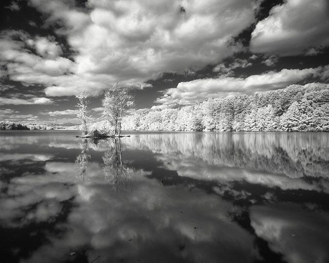 Chadwick Lake in Newburgh in infrared.  #newburghny #chadwicklake #infrared #silver